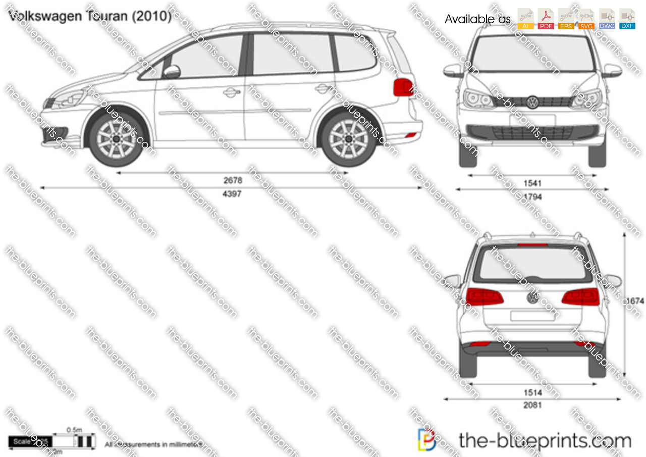 volkswagen touran vector drawing. Black Bedroom Furniture Sets. Home Design Ideas