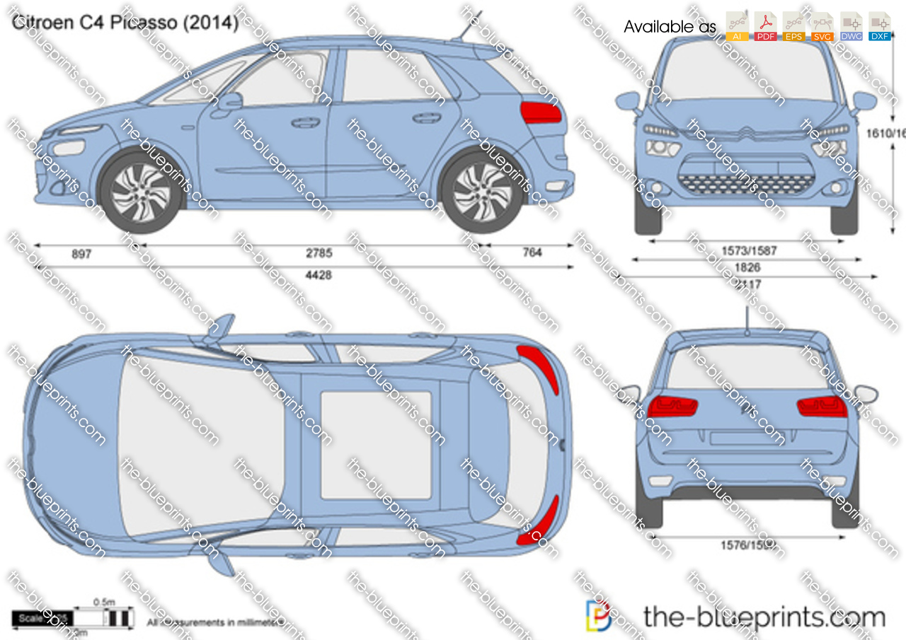 citroen c4 picasso vector drawing. Black Bedroom Furniture Sets. Home Design Ideas