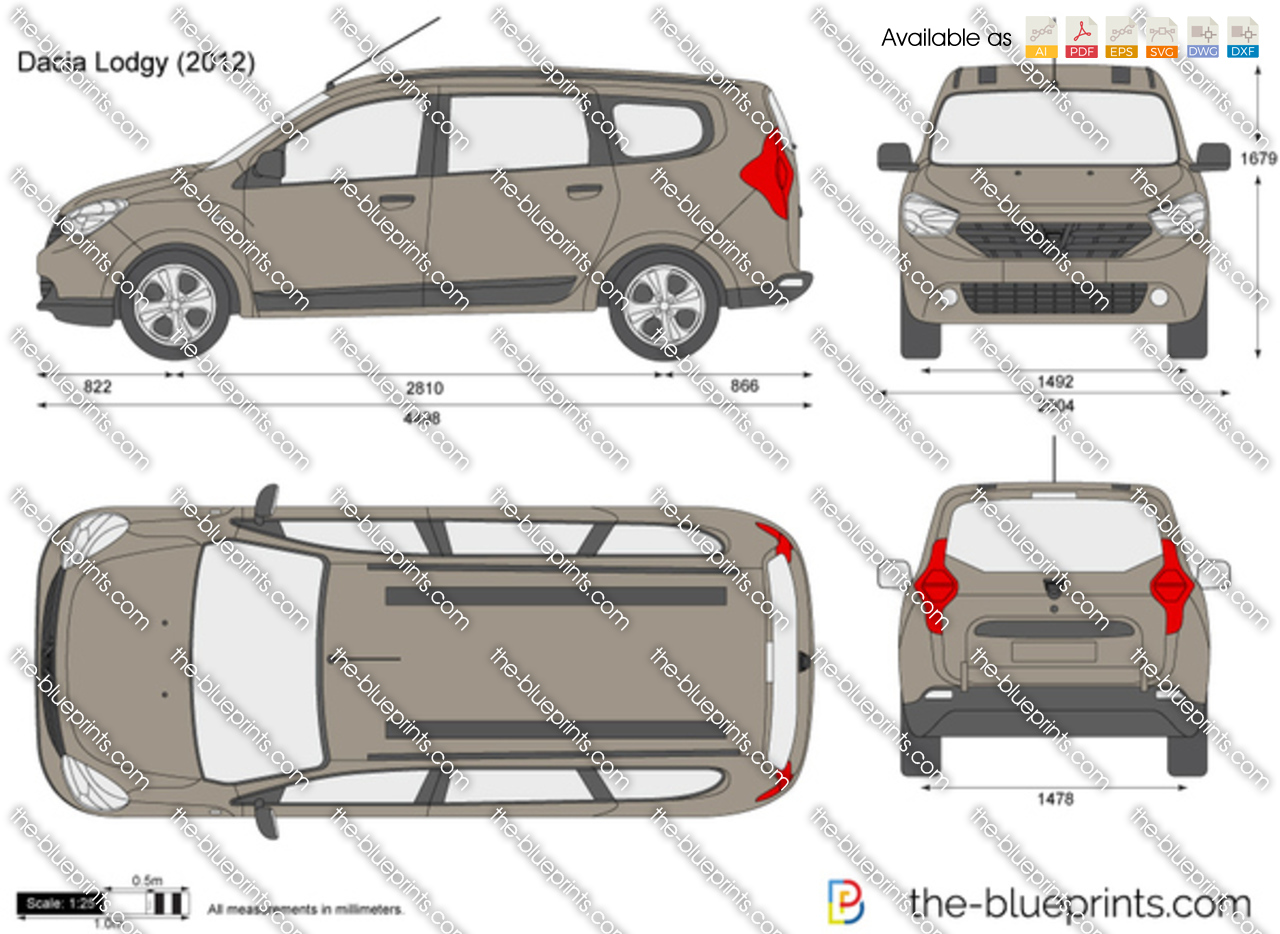 the vector drawing dacia lodgy. Black Bedroom Furniture Sets. Home Design Ideas