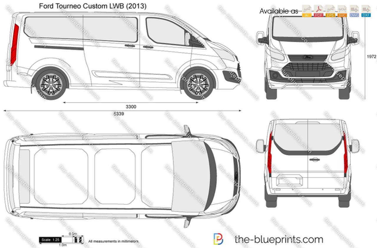 Ford tourneo custom lwb vector drawing ford tourneo custom lwb malvernweather Gallery