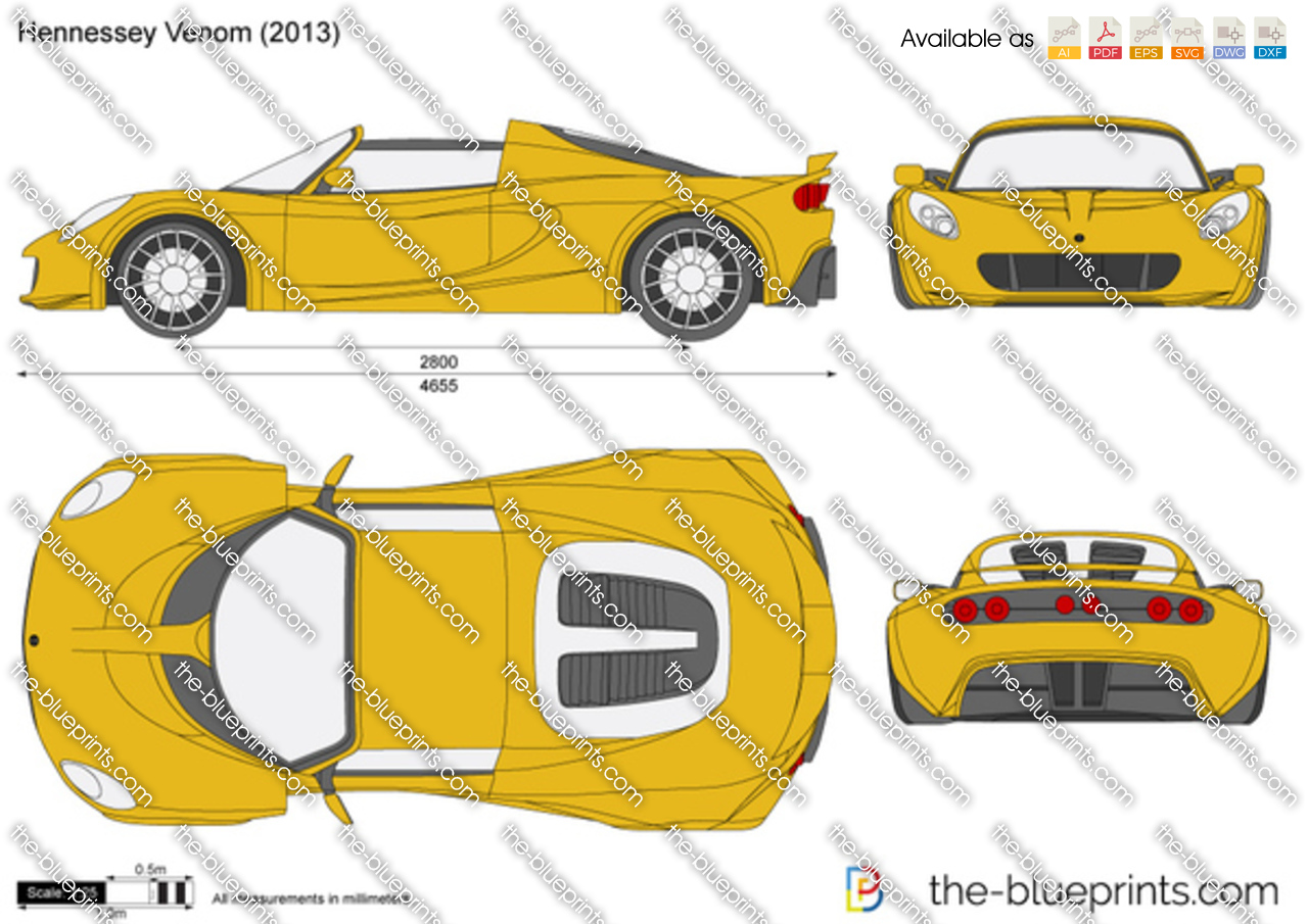 Hennessey Venom Gt Vector Drawing
