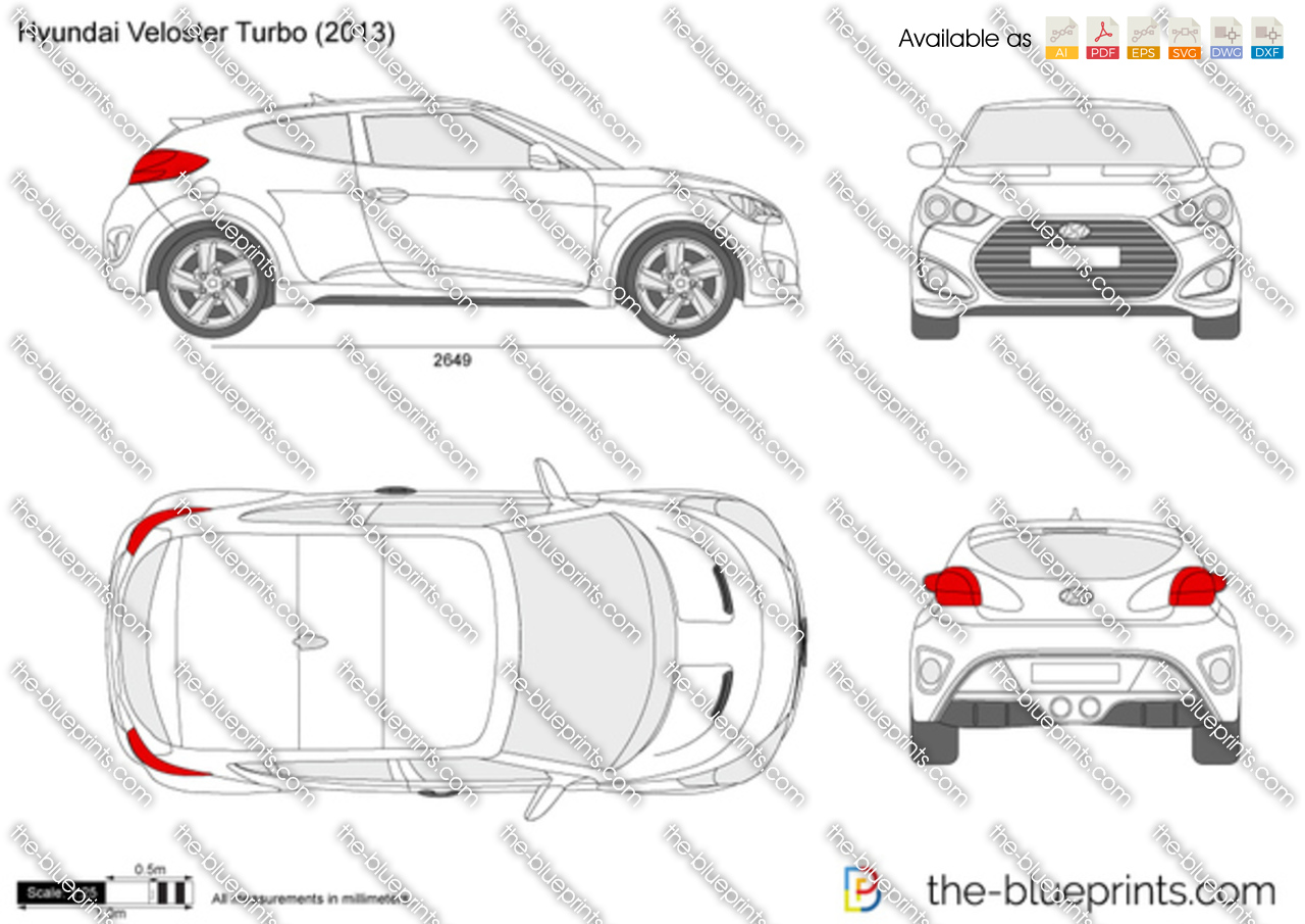 The Blueprints Com Vector Drawing Hyundai Veloster Turbo
