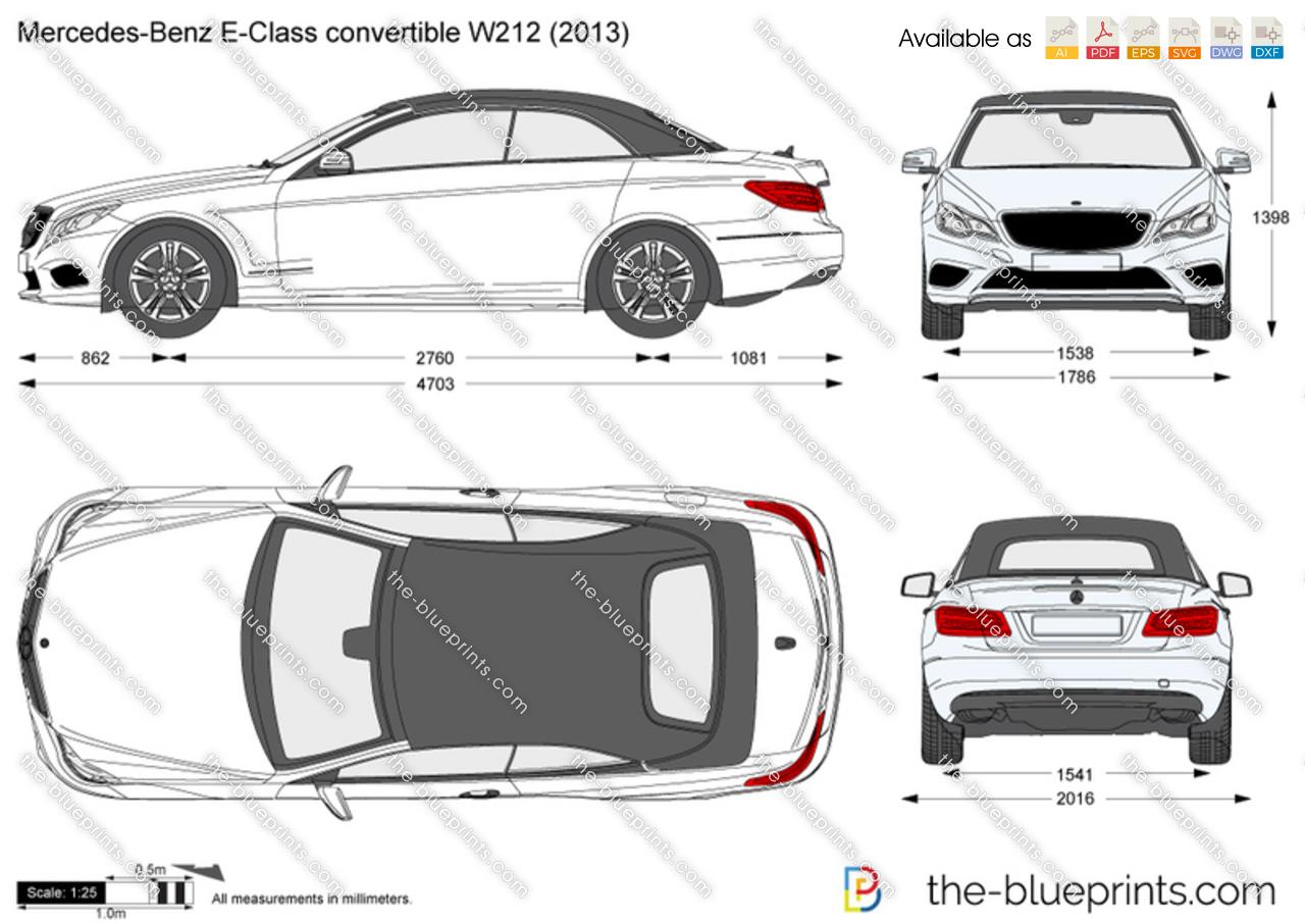 the vector drawing mercedes benz e class convertible w212. Black Bedroom Furniture Sets. Home Design Ideas