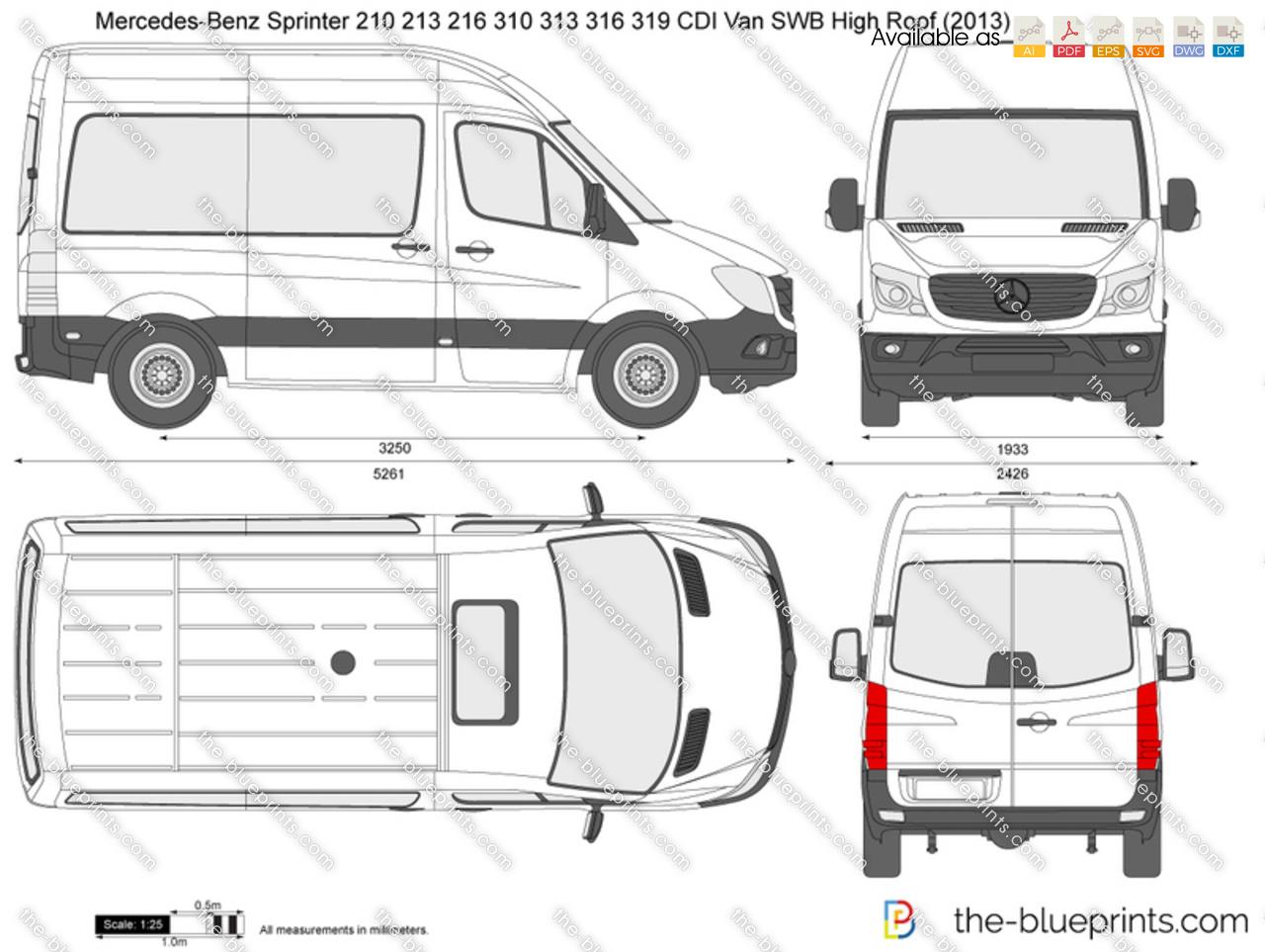 Mercedes Benz Sprinter 210 213 216 310 313 316 319 Cdi Van
