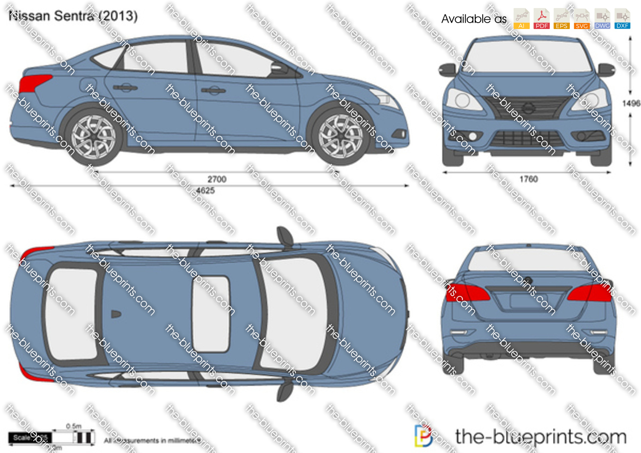 The Blueprints Com Vector Drawing Nissan Sentra
