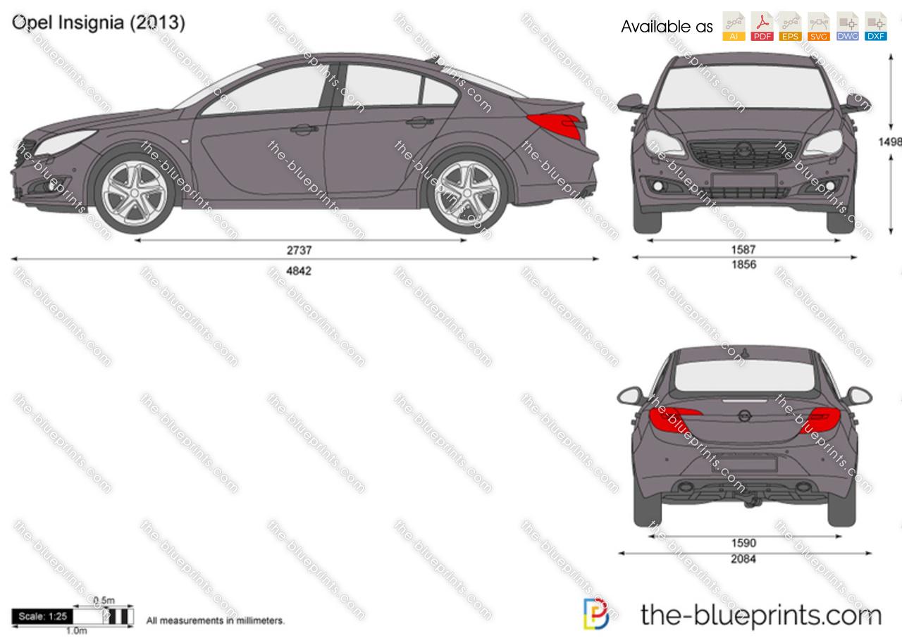 The blueprints com vector drawing opel astra k 5 door - Opel Insignia