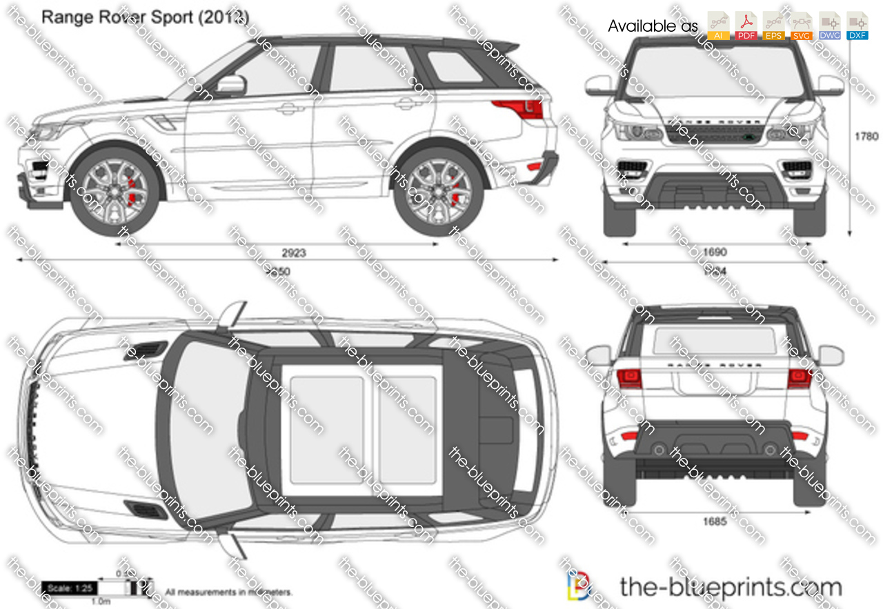 the vector drawing range rover sport. Black Bedroom Furniture Sets. Home Design Ideas