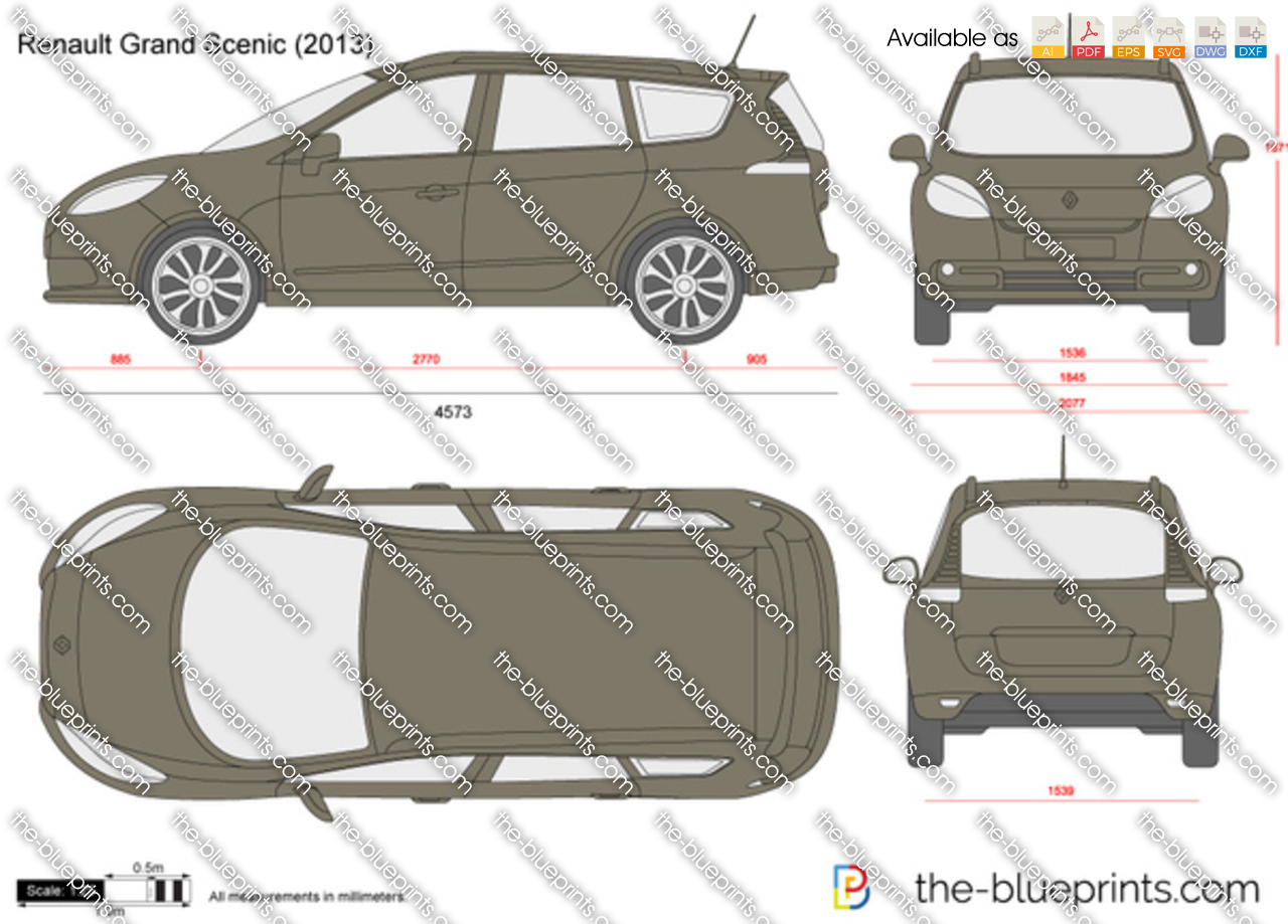 Renault Grand Scenic Vector Drawing