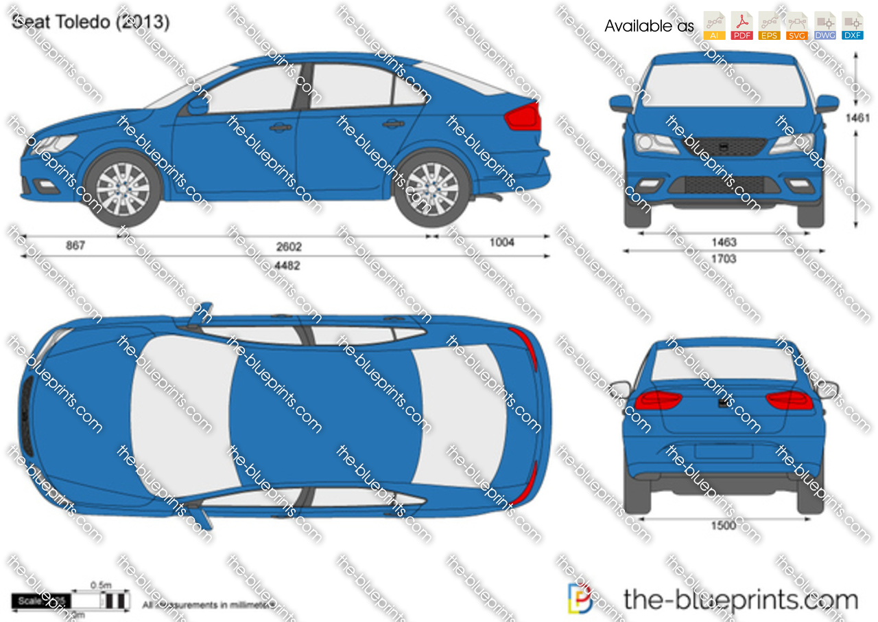 TheBlueprintscom  Vector Drawing  SEAT Toledo