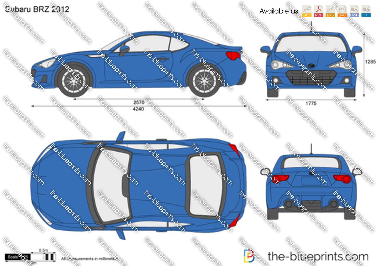 Subaru BRZ vector drawing