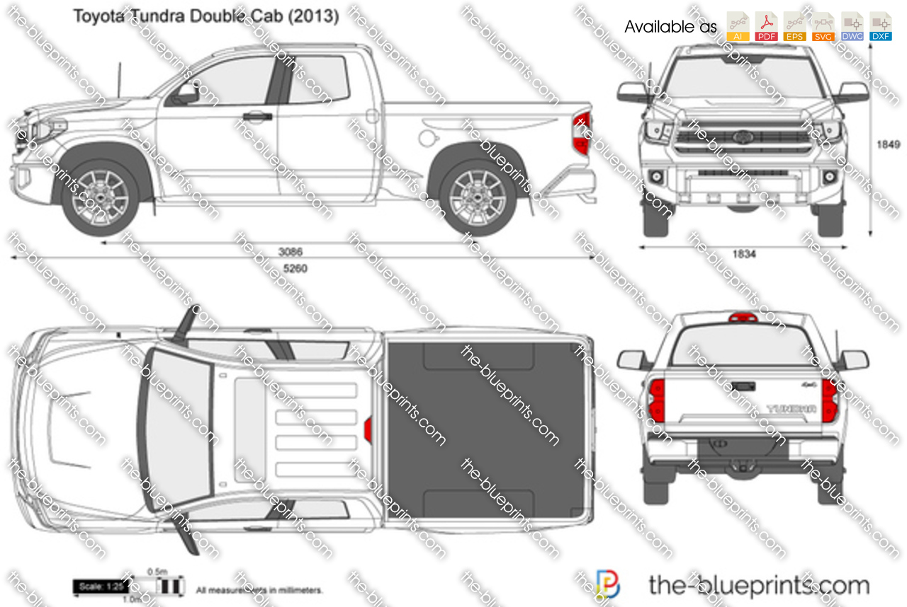 Toyota Tundra Double Cab vector drawing