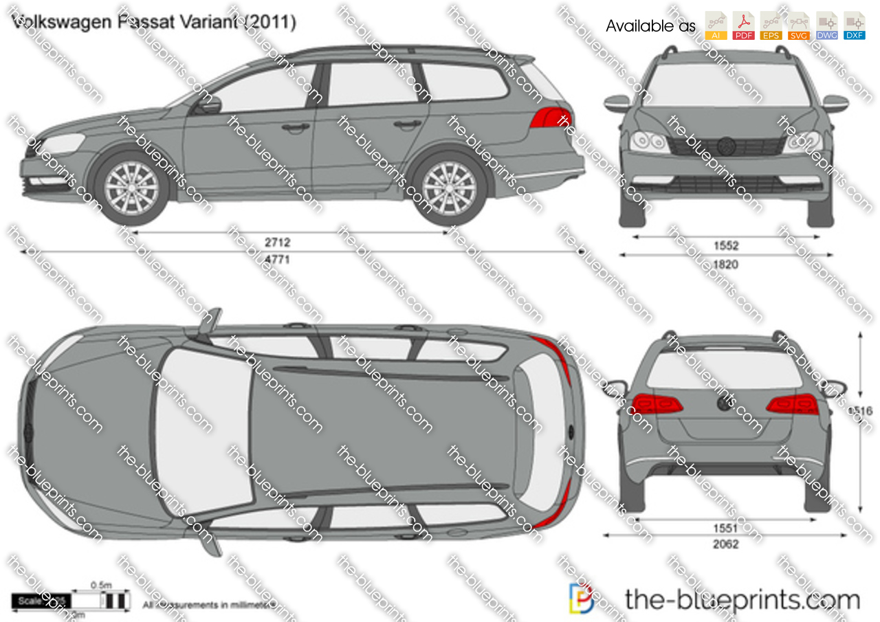 the vector drawing volkswagen passat variant. Black Bedroom Furniture Sets. Home Design Ideas