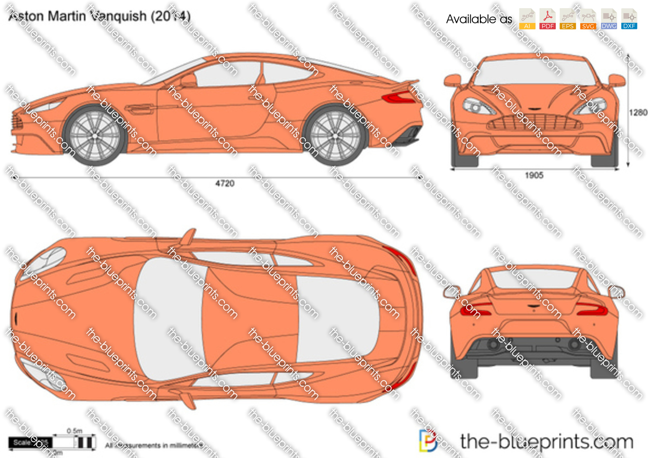 Aston Martin Vanquish Vector Drawing