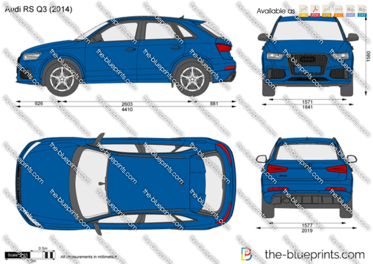 Audi Rs Q3 Vector Drawing