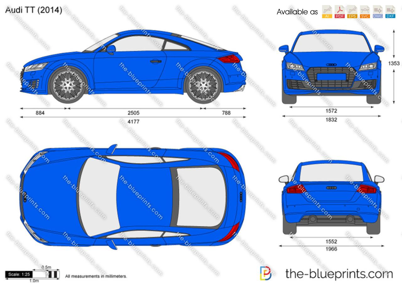 Audi Tt Vector Drawing