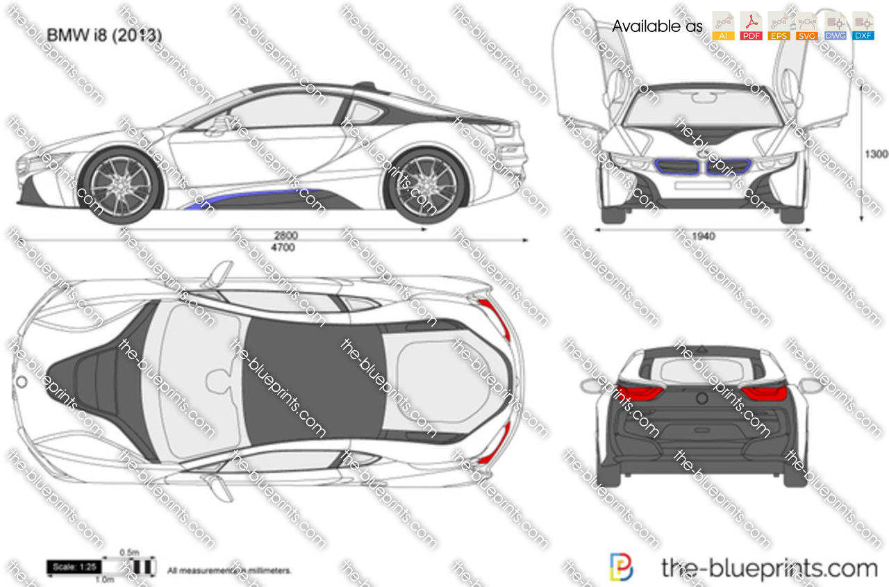 Bmw I8 Vector Drawing