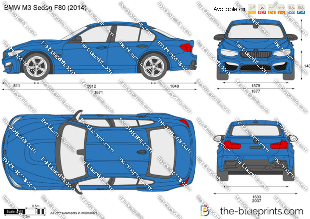 The Blueprints Com Vector Drawing Bmw M3 Sedan F80
