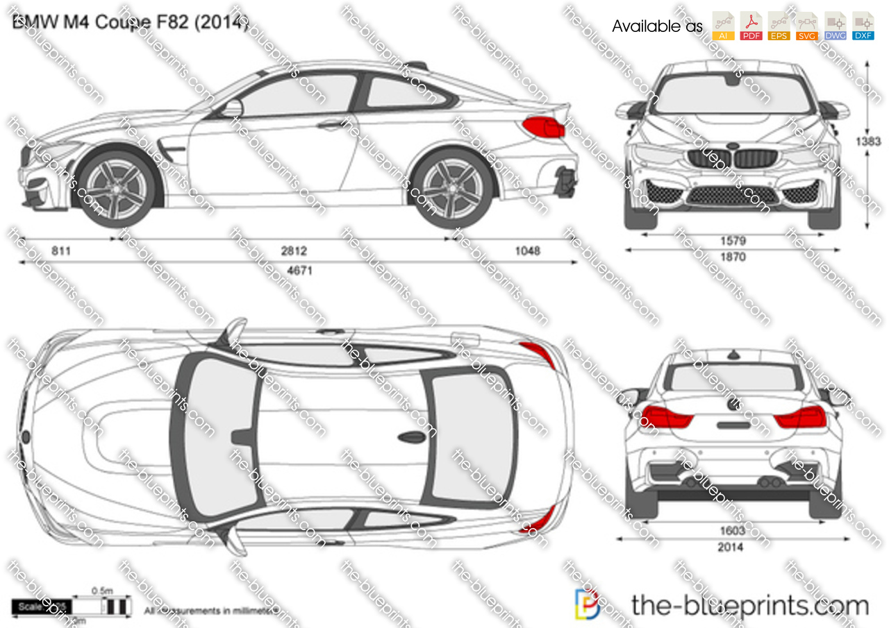 Bmw M4 Coupe F82 Vector Drawing