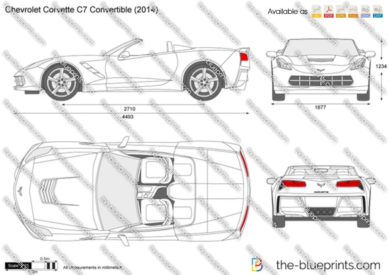 The blueprints vector drawing chevrolet corvette c7 chevrolet corvette c7 convertible malvernweather Images