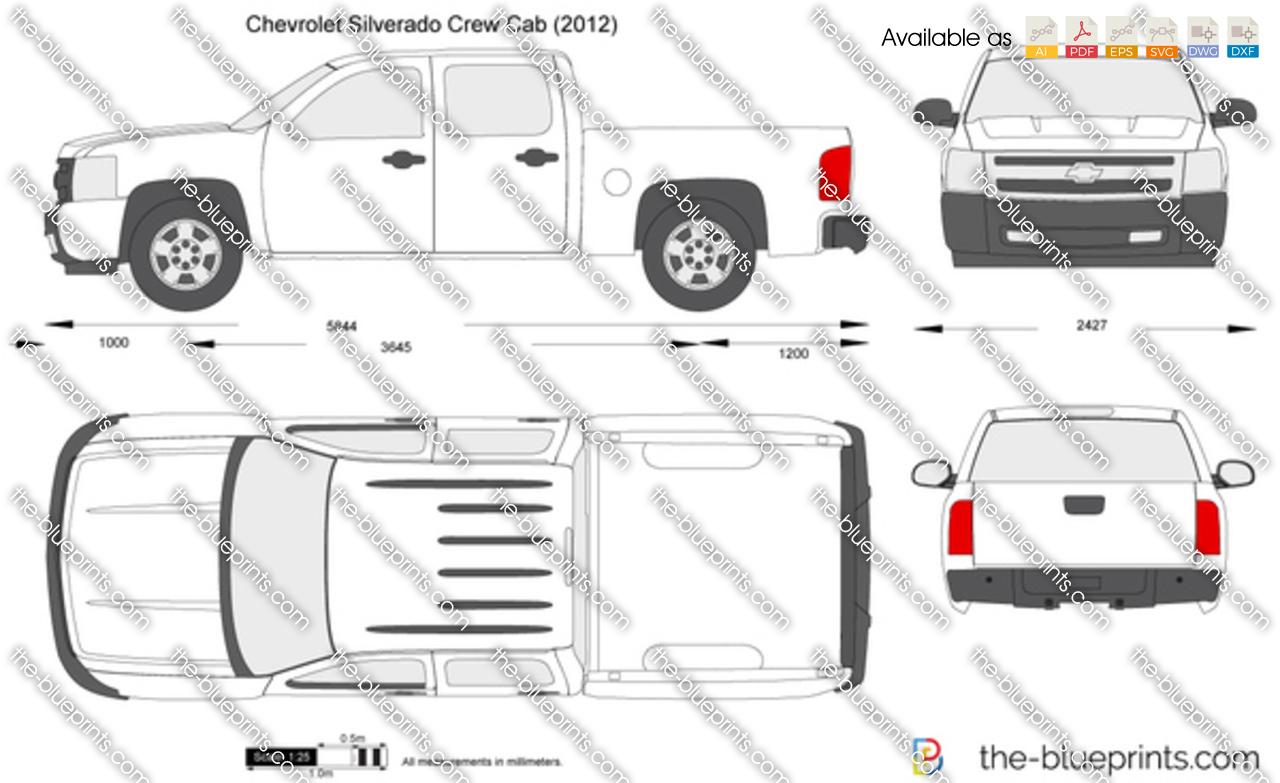 How To Pick A Front Door Color Chevrolet Silverado Crew Cab Vector Drawing