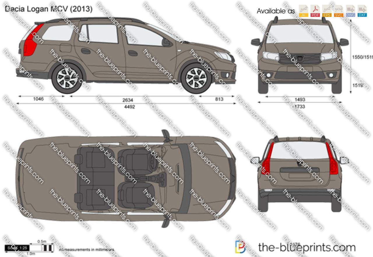 dacia logan mcv vector drawing. Black Bedroom Furniture Sets. Home Design Ideas