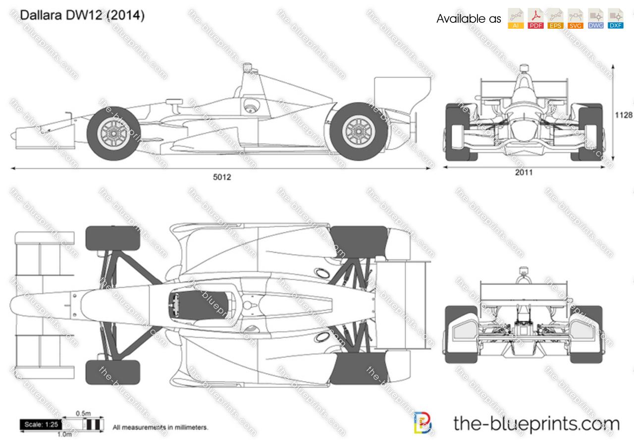 The blueprints vector drawing dallara dw12 indycar dallara dw12 indycar malvernweather Choice Image