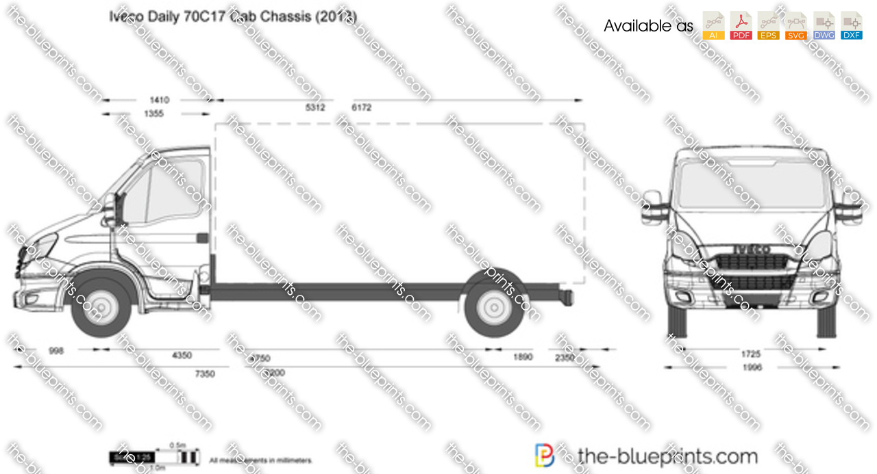 iveco daily 70c17 cab chassis vector drawing. Black Bedroom Furniture Sets. Home Design Ideas