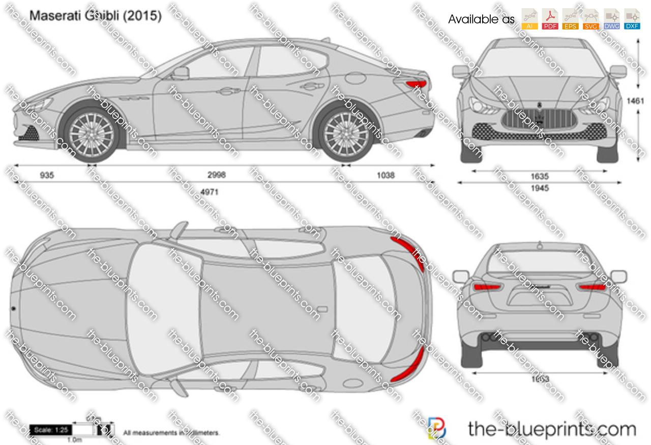 Maserati ghibli size