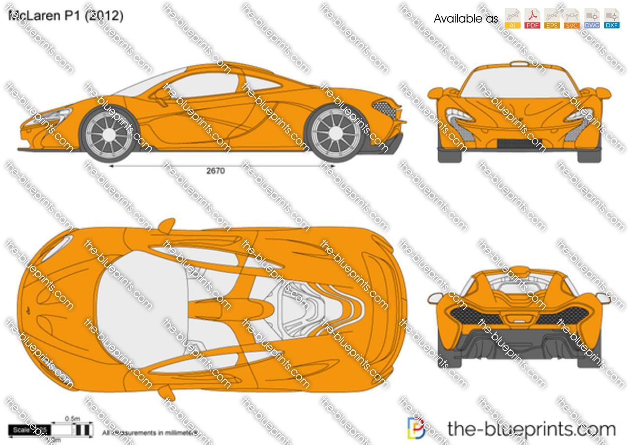 Ktm X-Bow Price >> McLaren P1 vector drawing