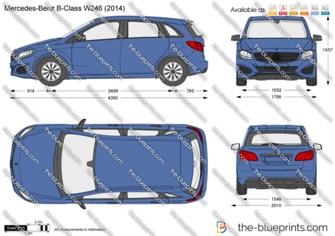 mercedes benz b class w246 vector drawing. Black Bedroom Furniture Sets. Home Design Ideas