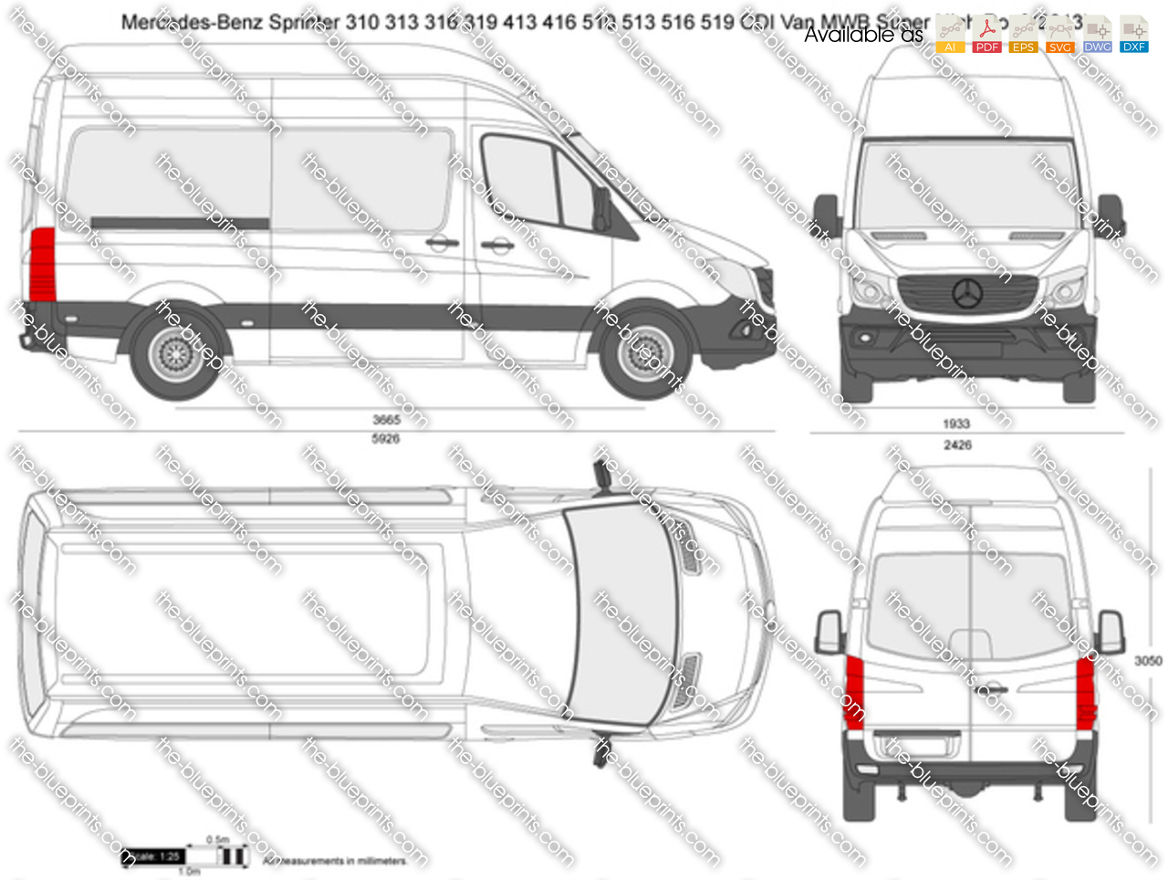 Mercedes Benz Sprinter 310 313 316 319 413 416 510 513 516