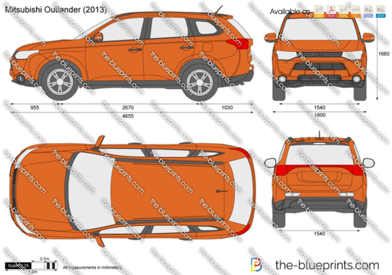 2013 Cadillac Escalade For Sale >> Mitsubishi Outlander vector drawing