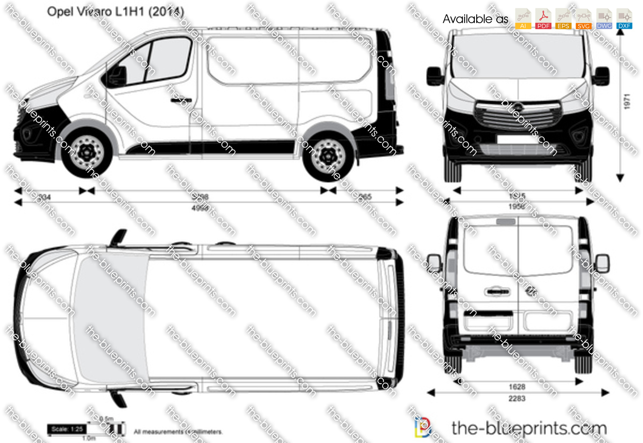 opel vivaro l1h1 vector drawing. Black Bedroom Furniture Sets. Home Design Ideas