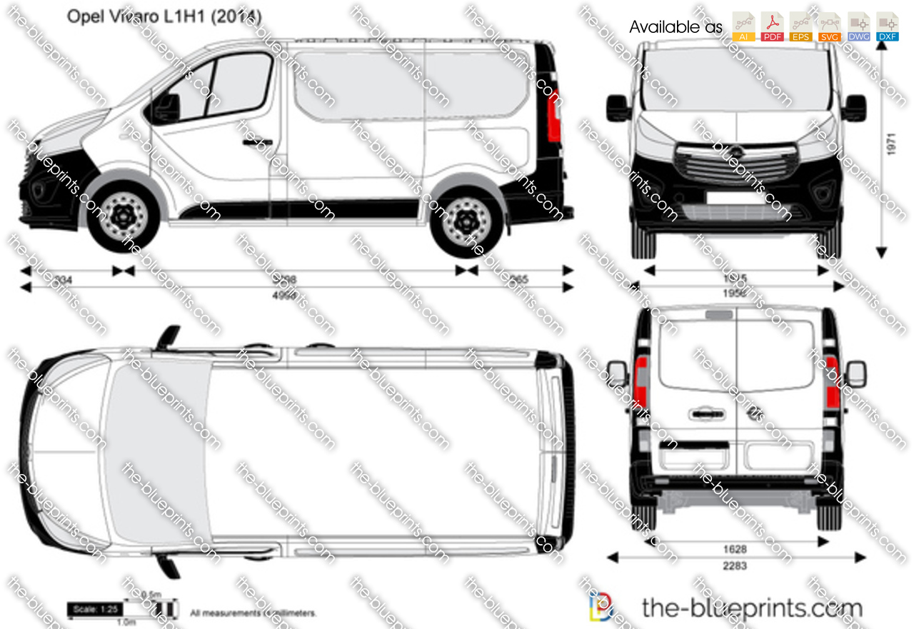 the vector drawing opel vivaro l1h1 combi. Black Bedroom Furniture Sets. Home Design Ideas