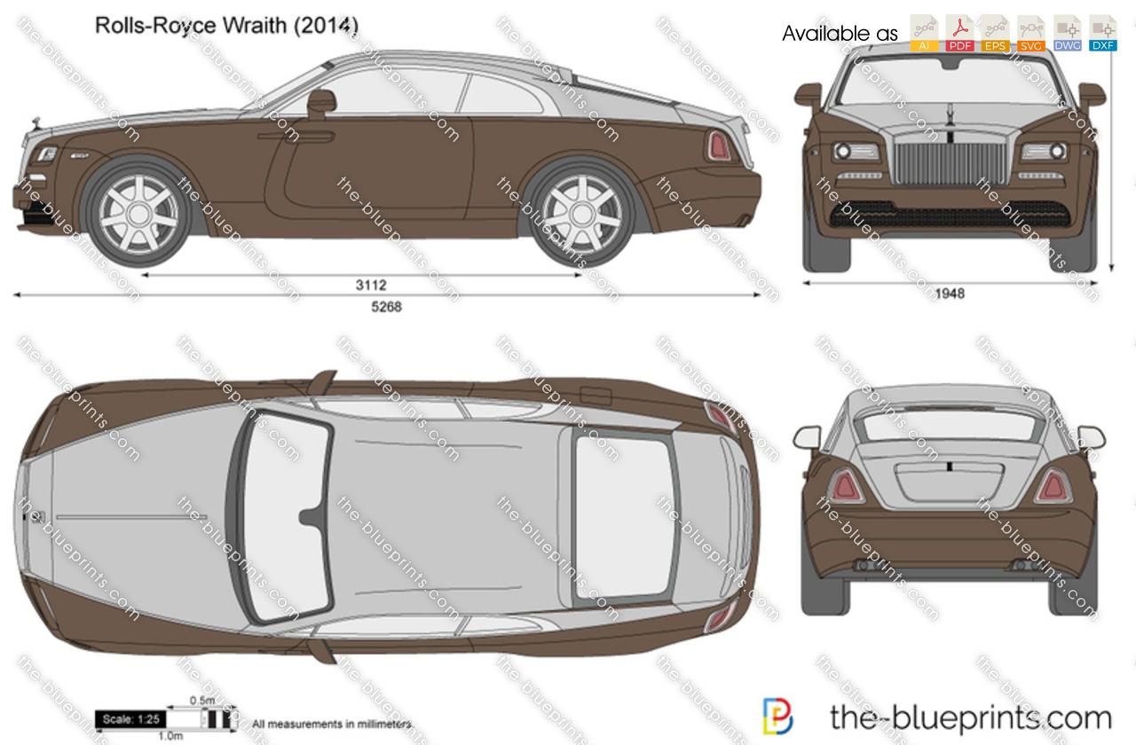 Rolls-Royce Wraith vector drawing