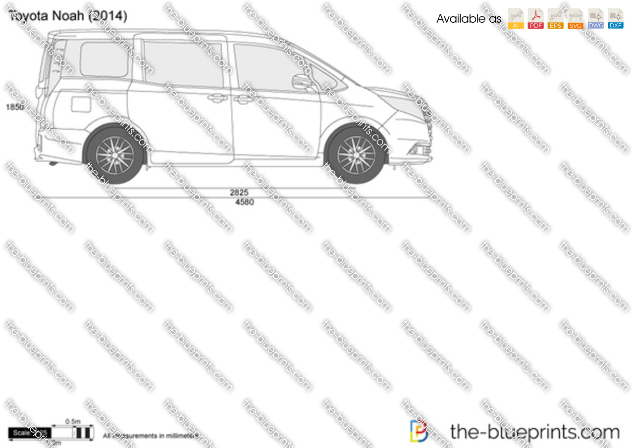 Vector Drawing Lines Examples : Toyota noah vector drawing