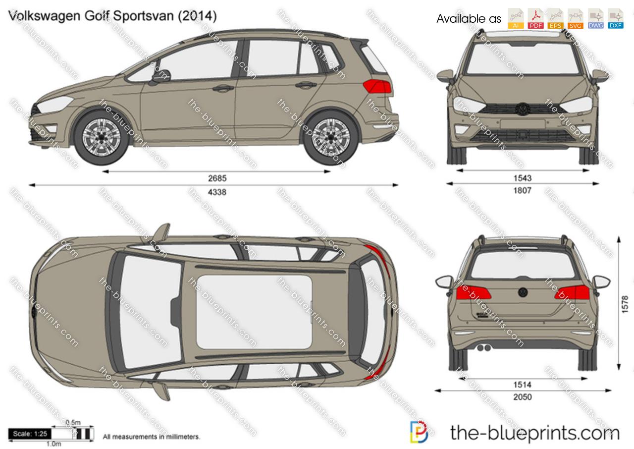 Volkswagen Golf Drawings Volkswagen Golf Sportsvan