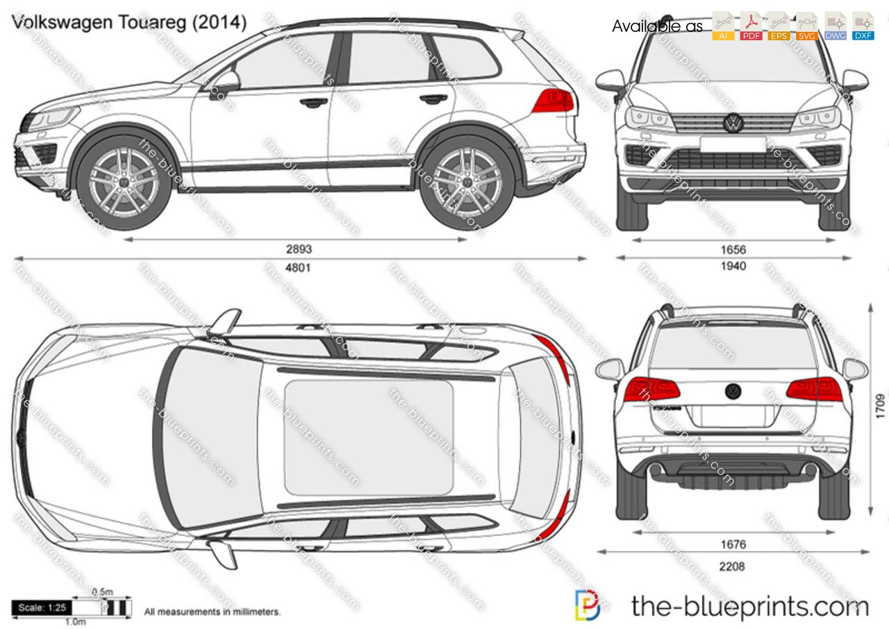 the vector drawing volkswagen touareg. Black Bedroom Furniture Sets. Home Design Ideas