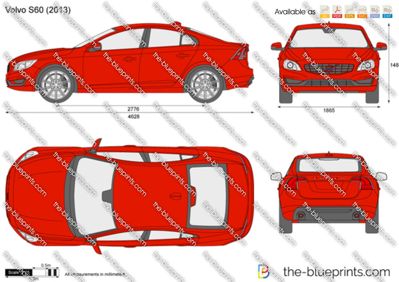 Volvo S60 vector drawing