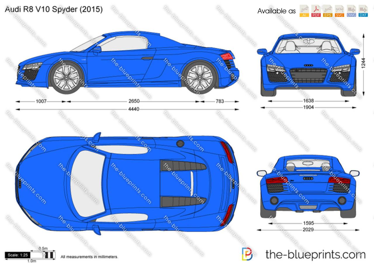 Audi r8 v10 spyder vector drawing 2015 audi r8 v10 spyder malvernweather Image collections