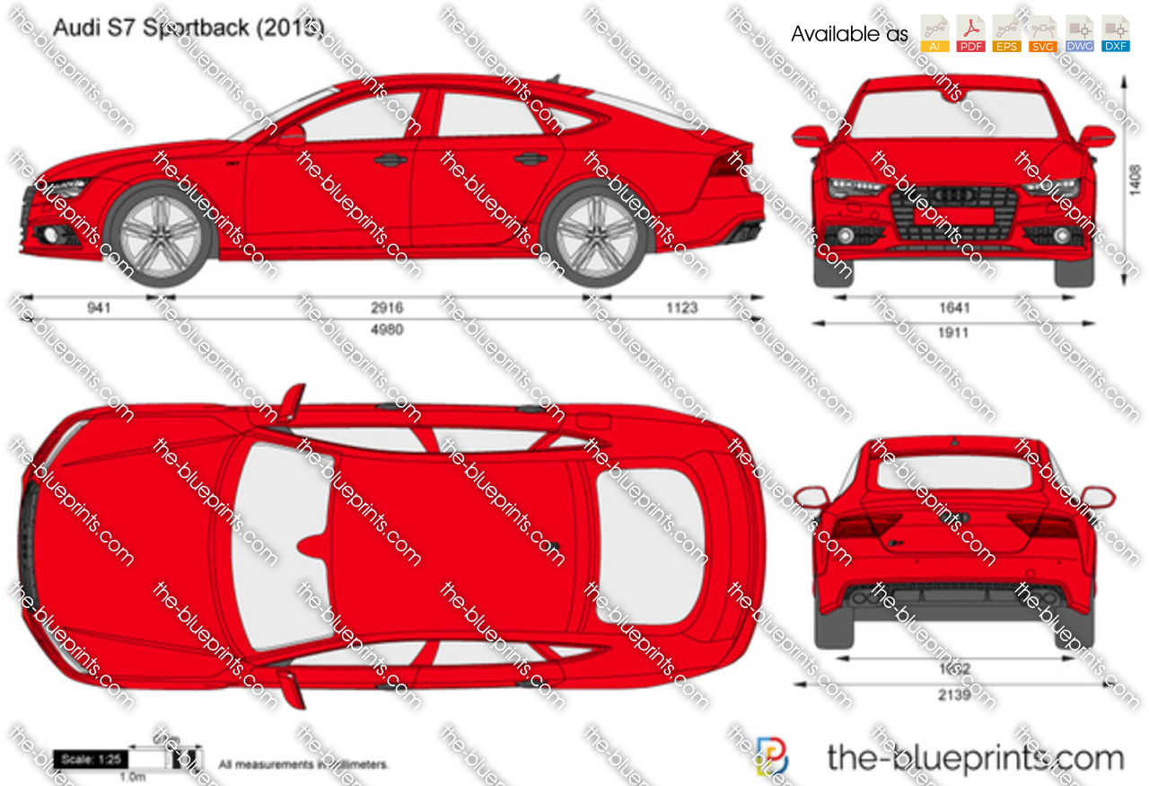 Audi S7 Sportback Vector Drawing
