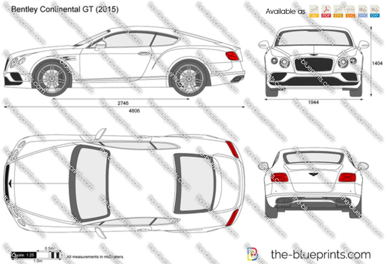 Bentley continental dimensions
