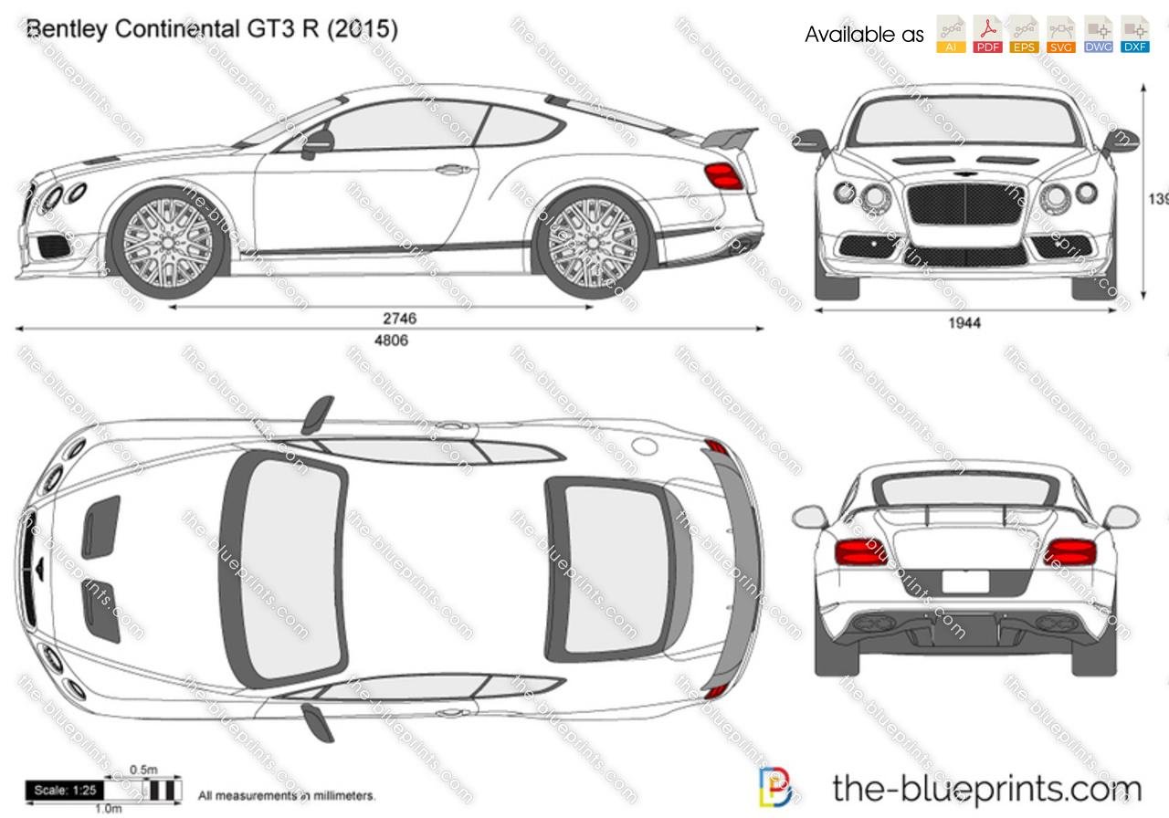 Bentley Continental GT3 R vector drawing