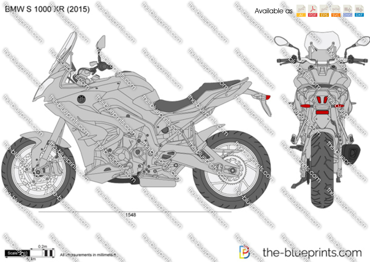 bmw s 1000 xr vector drawing