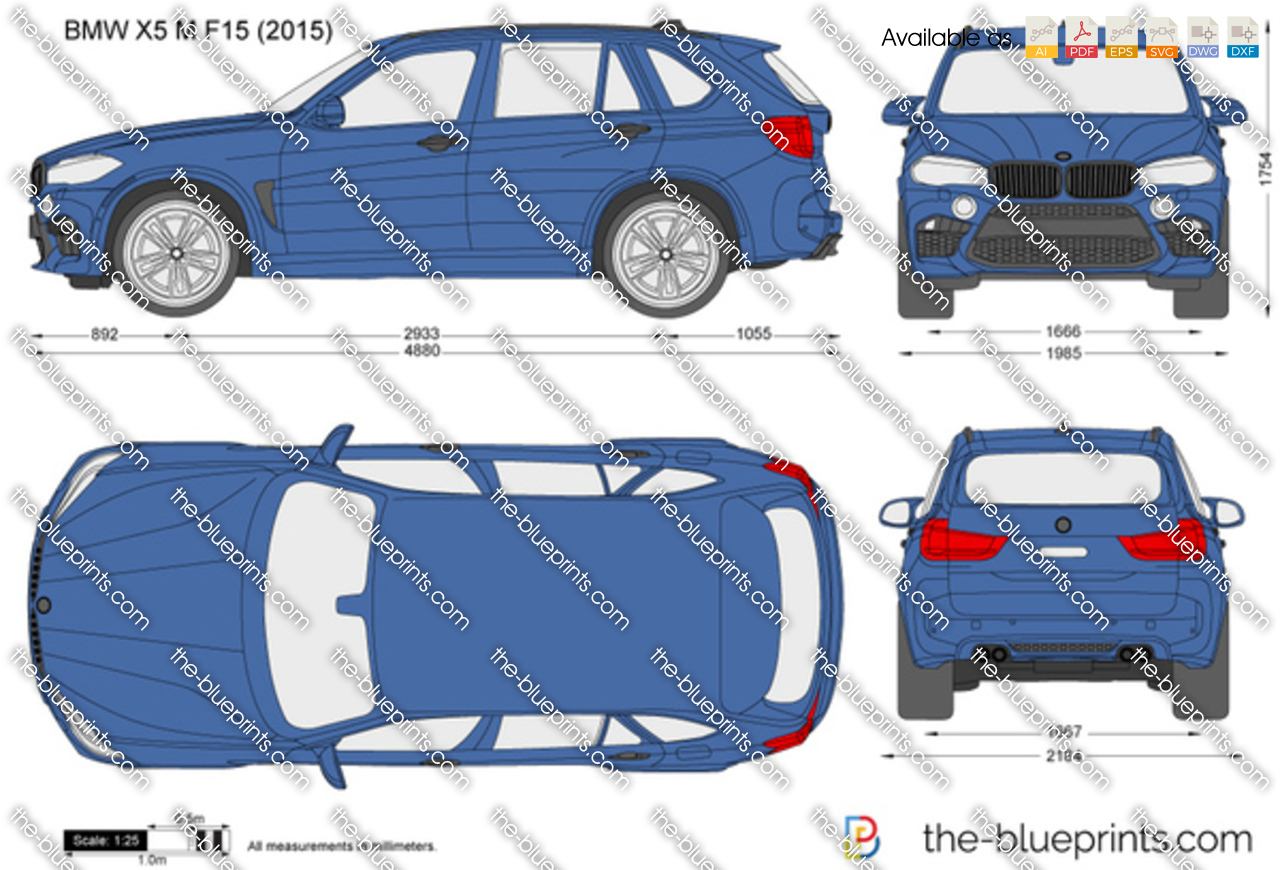 Bmw X5 M F15 Vector Drawing