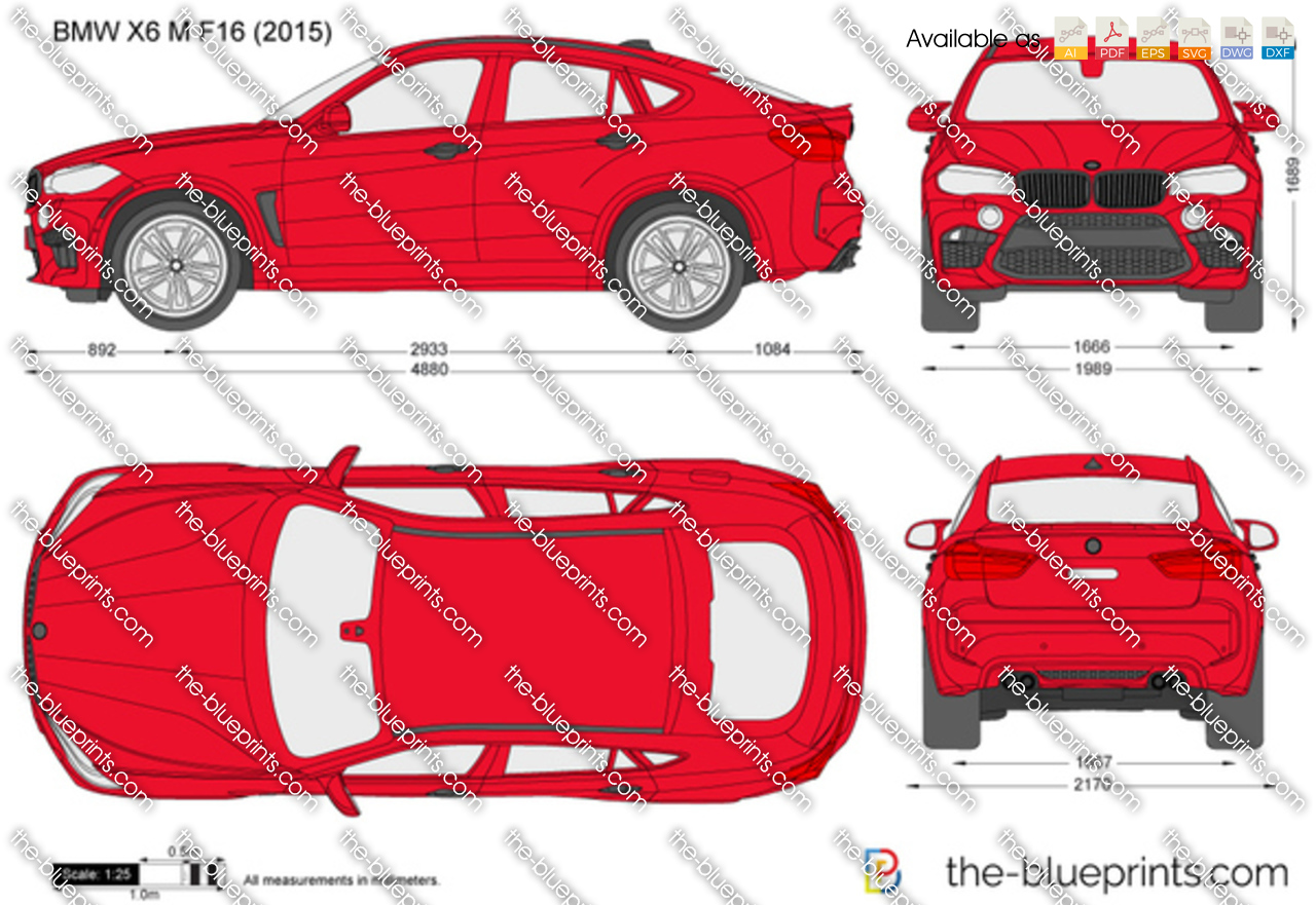 bmw x6 m f16 vector drawing. Black Bedroom Furniture Sets. Home Design Ideas