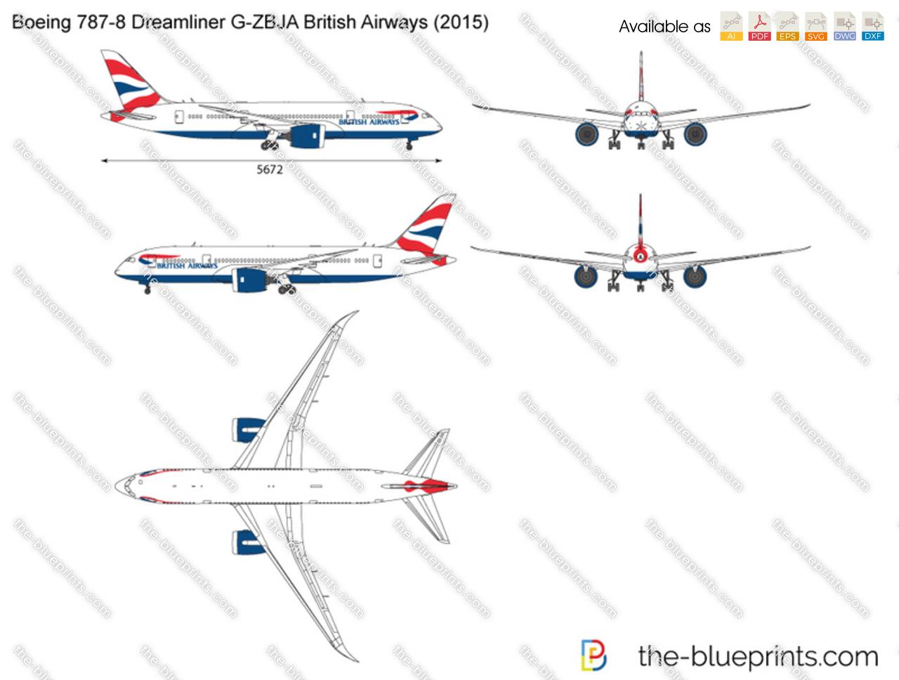 Boeing 787 8 dreamliner g zbja british airways vector drawing boeing 787 8 dreamliner g zbja british airways malvernweather Images