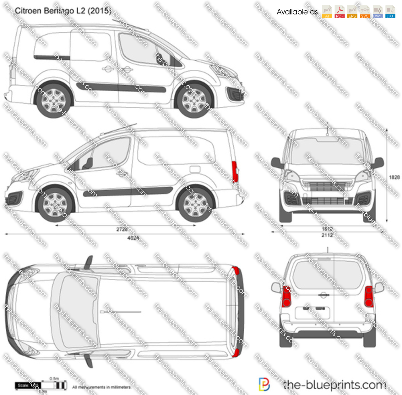 the vector drawing citroen berlingo l2. Black Bedroom Furniture Sets. Home Design Ideas