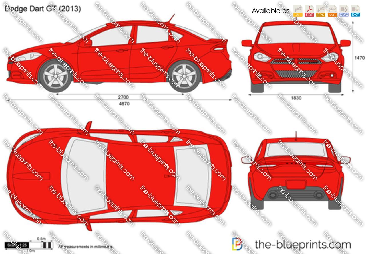 2013 Toyota Highlander For Sale >> Dodge Dart GT vector drawing