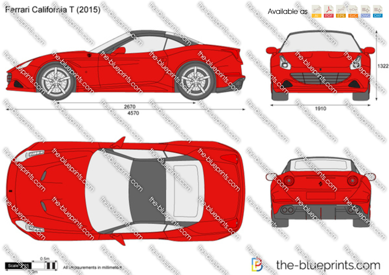 Ferrari California T Vector Drawing